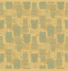 tiki seamless pattern vector image