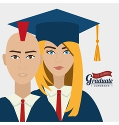University students graduation vector image
