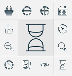 web icons set collection of hourglass refuse vector image