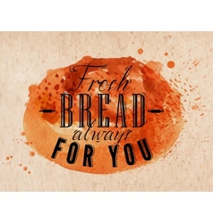 Bread poster kraft vector image vector image