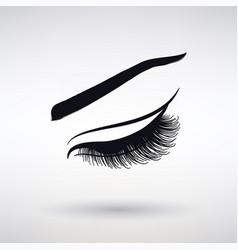 icon female long eyelashes vector image vector image
