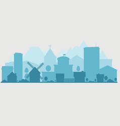 suburban and urban panorama vector image