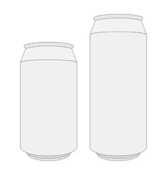 Two blank white Beer Cans with Place for Design vector image