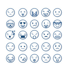 emoticons faces design vector image