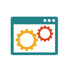 gears inside the browser window vector image