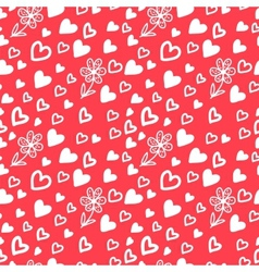 Love Valentins Day Seamless Pattern with Hearts vector image vector image
