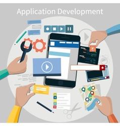 Mobile application development concept vector image