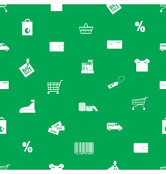 shopping icons pattern eps10 vector image