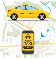 Taxi mobile app concept vector image