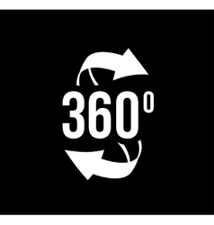 Angle 360 degrees view sign icon vector image