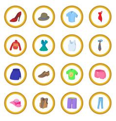 Clothing icon circle vector
