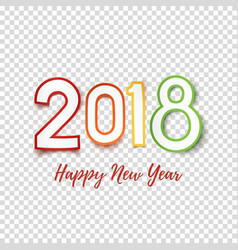 happy new year 2018 greeting card template vector image vector image