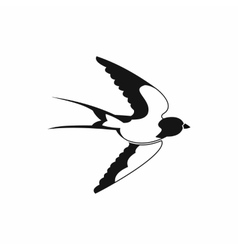 Swallow icon black simple style vector image vector image
