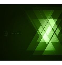 Elegant geometric green background vector