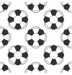 lifebuoy icon seamless pattern on white background vector image