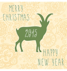 2015 chinese new year goat vector image