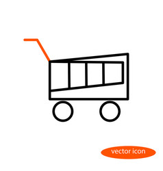 A simple linear image of a shopping basket vector