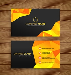 Abstract yellow business card vector