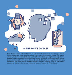 Alzheimer s disease concept banner or poster vector