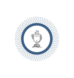 award competitive cup edge prize line icon vector image
