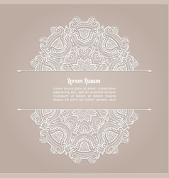 Background with lace pattern invitation template vector