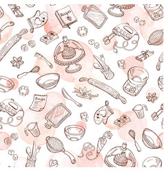 baking doodle background vector image
