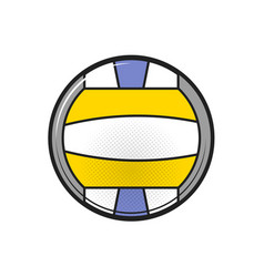 beach volleyball ball on a white background vector image