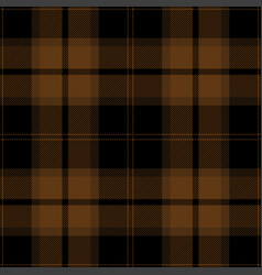 black brown tartan plaid scottish pattern vector image