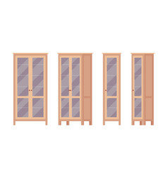 bookcase in brown vector image
