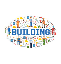 building service tools banner vector image