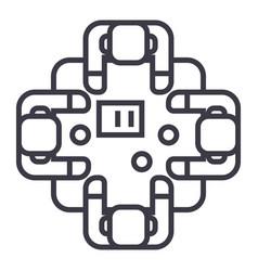 business meetingtalksbrainstorm line icon vector image