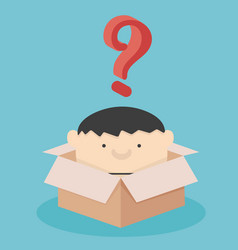 businessmen are in box with question mark vector image