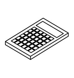 Calculator math isometric icon vector