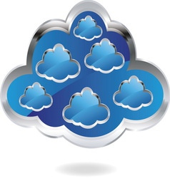 cloud1 resize vector image