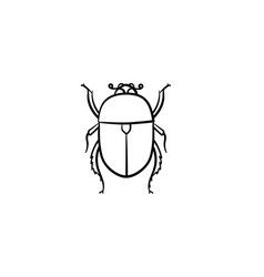 colorado potato beetle hand drawn sketch icon vector image