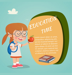 Colored education poster vector