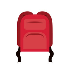 Colorful silhouette of backpack icon vector