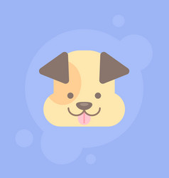 cute flat dog logo or icon vector image