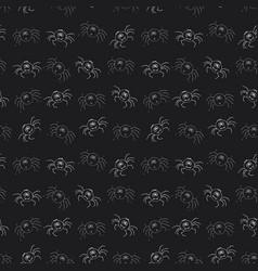 cute spider seamless pattern cartoon hand drawn vector image