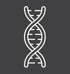 dna line icon medicine and healthcare genetic vector image