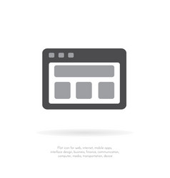 documents blank icon flat design 1 vector image