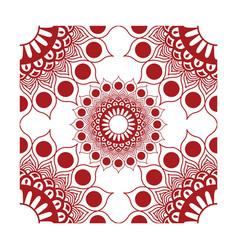 Element corner decorations red vector