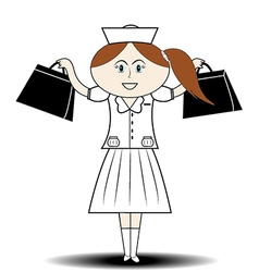 first aid nurse handbag vector image