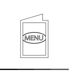 food menu icon design vector image