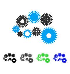 Gear mechanism flat icon vector