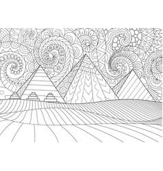 giza plateau vector image
