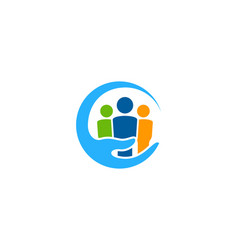 group care logo icon design vector image