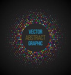 halftone circle vector image