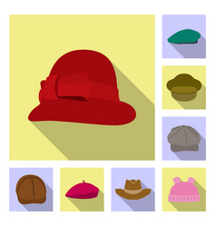 headgear and cap sign vector image