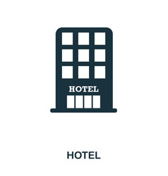 hotel icon mobile app printing web site icon vector image